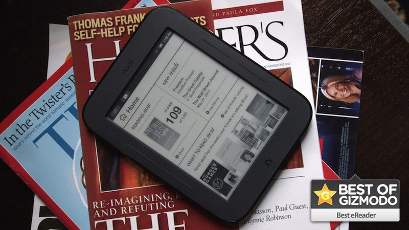 Illustration for article titled On Second Thought, the Nook Simple Touch Is the Best eReader