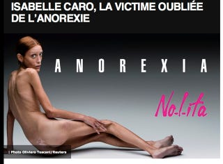 Illustration for article titled Isabelle Caro, Anorexic Model, Dead At 28