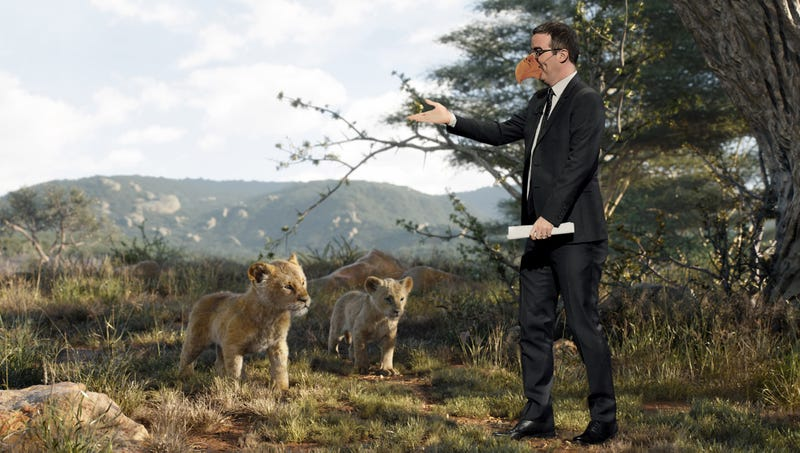 Illustration for article titled John Oliver Annoyed After Discovering He The Only Non-CGI Character In 'Lion King' Remake