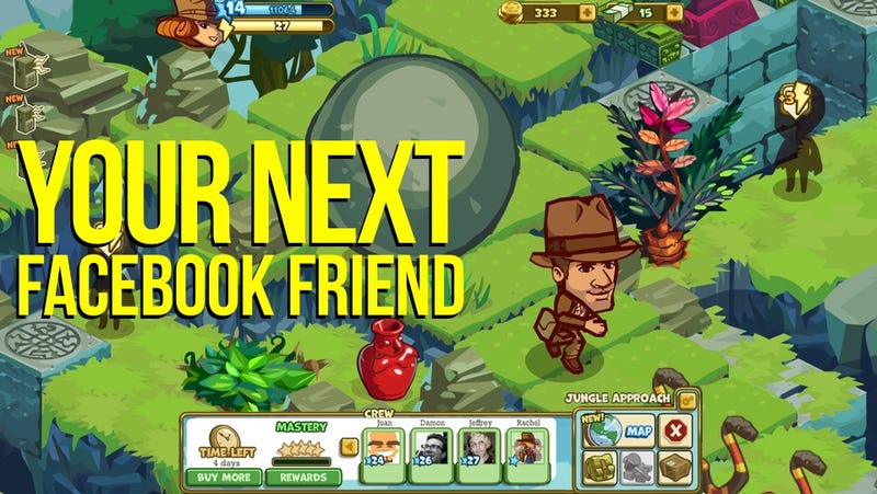 Illustration for article titled The New, Official Indiana Jones Prequel isn't a Movie. It's a Zynga Facebook Game.