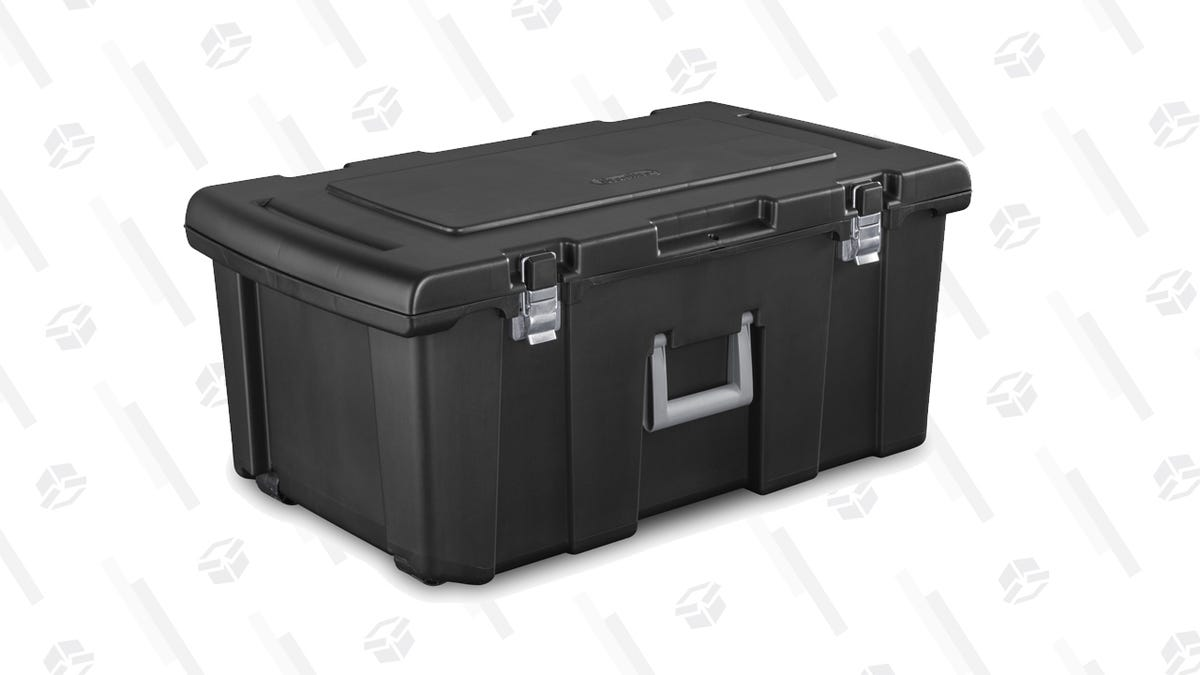 Securely Store All of Your Outdoor Gear With This Discounted Sterilite Footlocker
