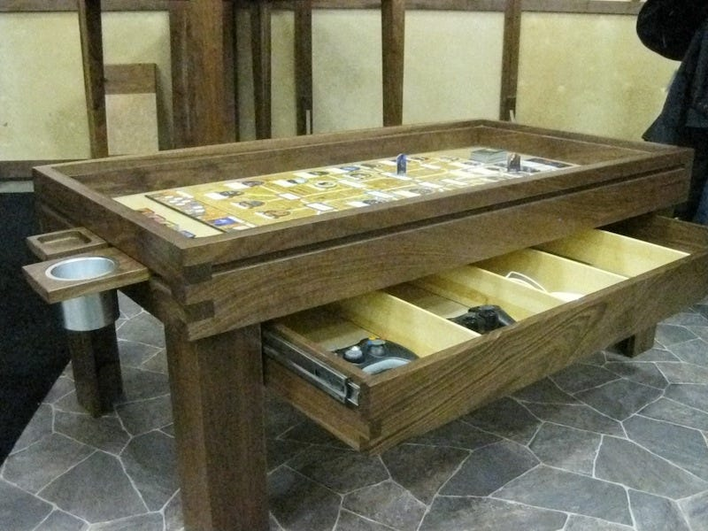 The Ultimate Board Game Table Makes Playing DD Serious Business - Cheap board game table