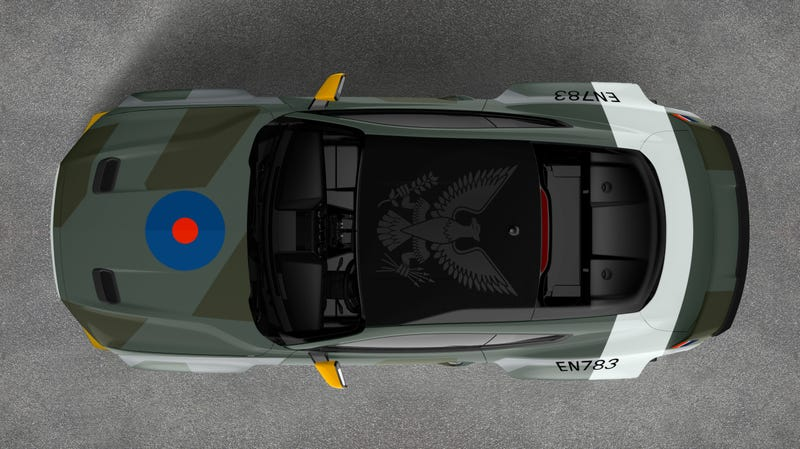 Illustration for article titled This Ford Mustang Is A 700-HP Tribute To U.S. Pilots In The RAF