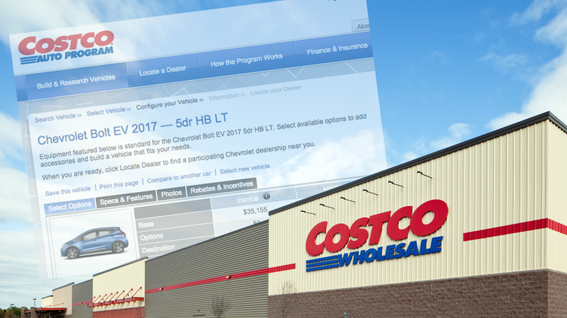 Illustration for article titled Costco Leaks 2017 Chevrolet Bolt Configurator Before Chevy Puts It On Their Site