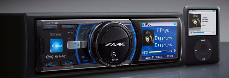 Illustration for article titled Alpine IDA-X100 iPod Headunit: Cool UI, Tags HD Radio Songs for iTunes Purchase