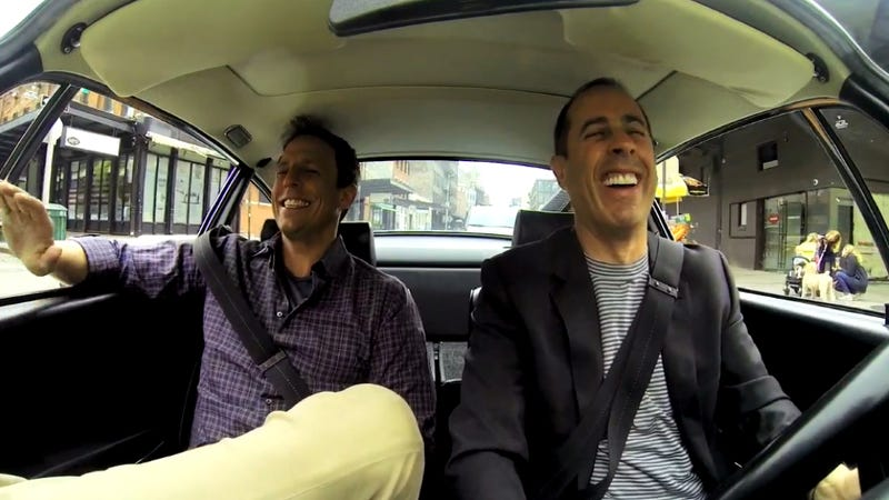 Illustration for article titled Jerry Seinfeld Wastes A Ride In A Porsche Carrera RS On Seth Meyers