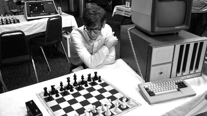 Illustration for article titled Computer Chess uses defunct technology to envision a not-so-distant past