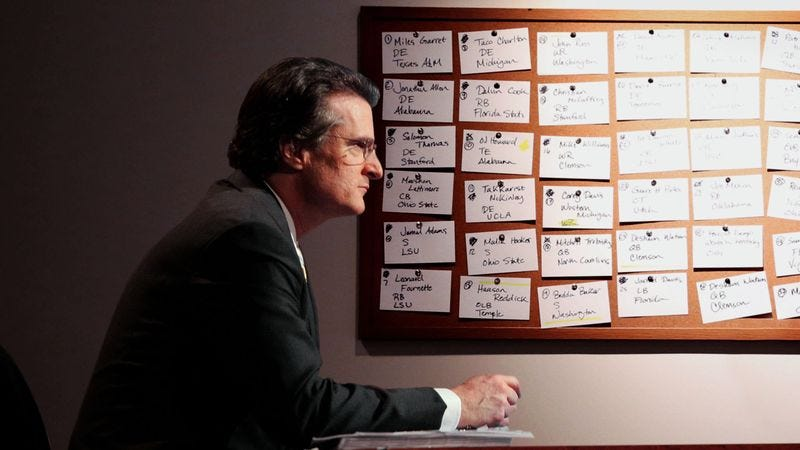 Illustration for article titled Mel Kiper Shrugs Off Amorous Feelings Toward Big Board While Working Late One Night
