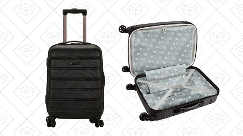 Rockland Luggage Melbourne 20 Inch Expandable Abs Carry On Luggage | $34 | Amazon