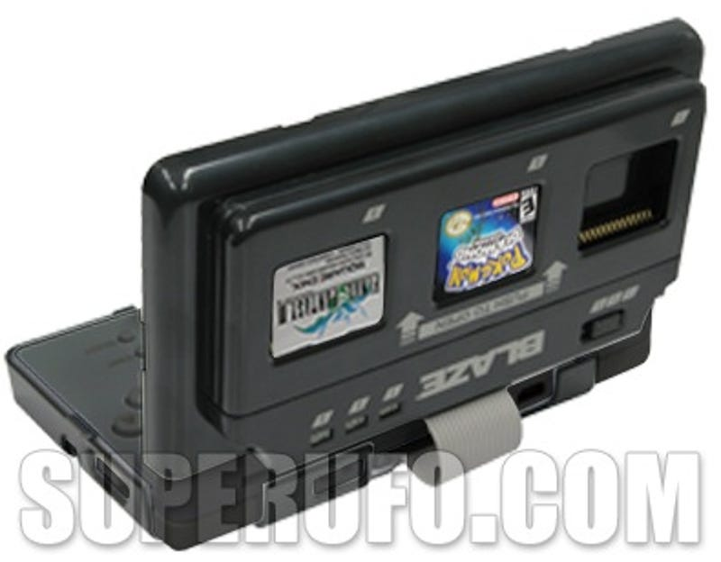 This Blaze Game Selector For The Nintendo DS Lite Attaches To DSs Back And Allows You Toggle Between 3 Games With Flip Of A Switch