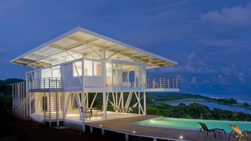 Someone built the perfect green house in a perfect paradise for Perfect home designs