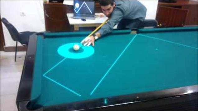 Anyone Can Be A Pool Shark When This Projector Calls The Shots