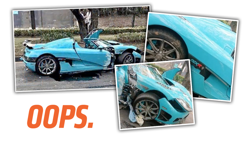 Illustration for article titled One of the Two Existing Koenigsegg CCXR Special Ones Was Wrecked in Mexico