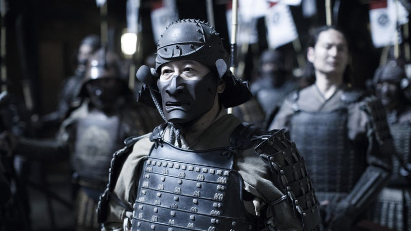 Does this samurai look bored to you?