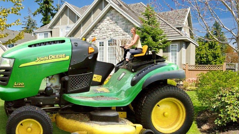 John Deere lawn mower.