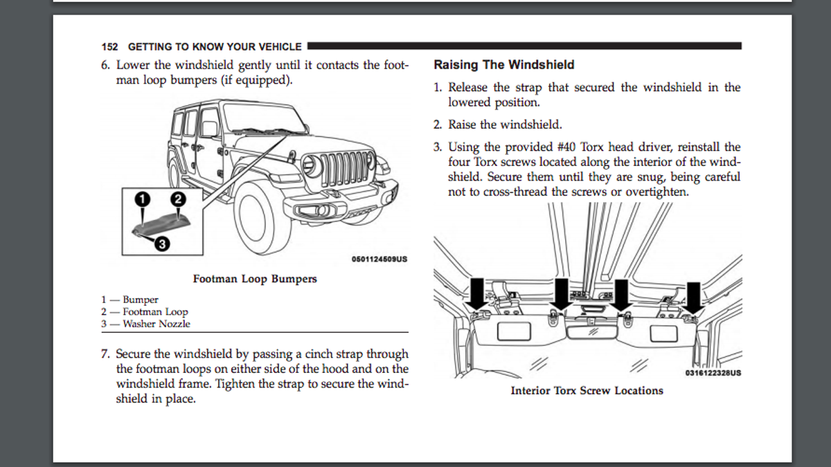 The Most Interesting Stuff We Found In The Leaked 2018 Jeep Wrangler  Owner's Manual