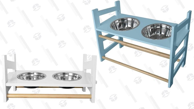 Adjustable Height Ladder Pet Bowls | $28-$35 | Daily Steals | Promo code KJPETFEED