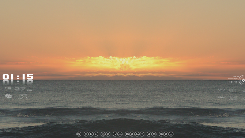Illustration for article titled The Beach Sunset Desktop