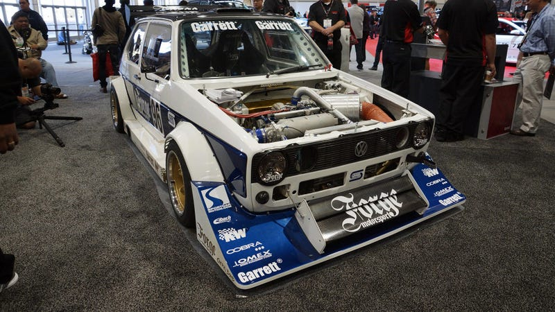 Illustration for article titled This Boosted MK1 Golf Screams For A Rapid Hillclimb