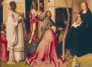Hieronymus Bosch, Adoration of the Magi. Triptych, oil on panel, circa 1510, 138 by 72 cm. Prado Museum, Madrid