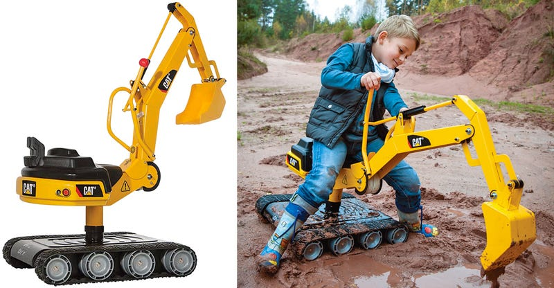 Cat Construction Toys For Toddlers : Working tank treads keep this caterpillar digger for kids