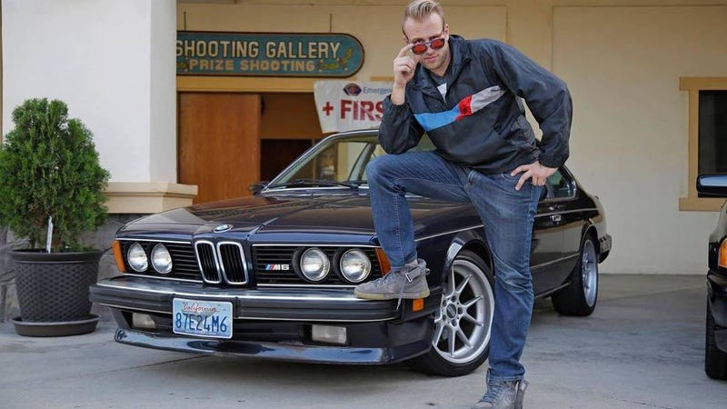 Glenn Snyder posing with his BMW M6 on BBS RKs at Radwood. Photo By Manuel Carrillo III.