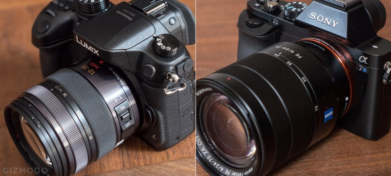 Illustration for article titled Panasonic GH4 vs Sony A7s: The Most-Anticipated Video Slingers, Compared