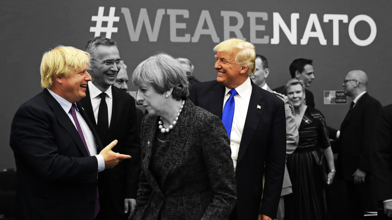 Illustration for article titled UK and US Relations Will Surely Soar Now That Both Countries Are Controlled By Yellow Haired Goons