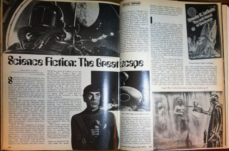 Illustration for article titled In 1975, Newsweek Warned that Science Fiction Was Taking Over
