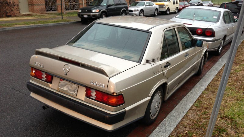 Illustration for article titled This Mercedes 190E 2.3-16 Is The Original 80s German Track Sedan