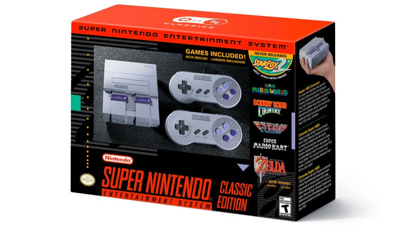 Illustration for article titled Super Nintendo Classic Edition Arrives September 29th With 21 Games [Updated]