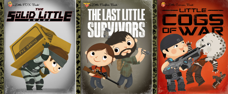 Illustration for article titled The Last Of Us, Gears Of War, And More As Little Golden Books
