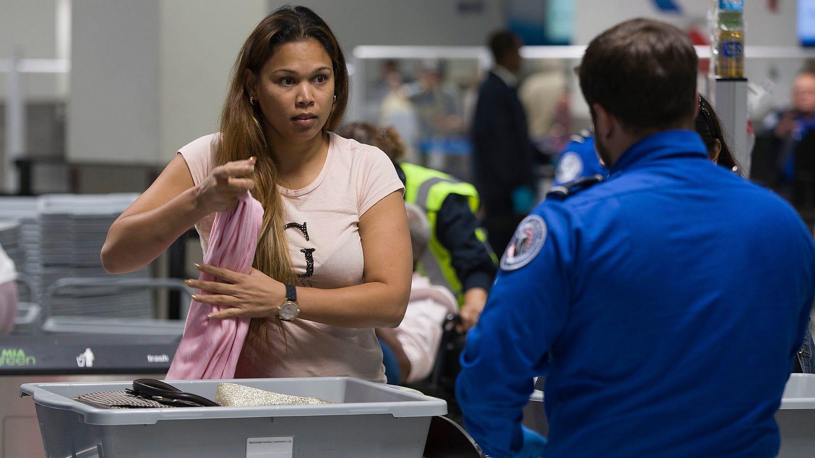 TSA check airport
