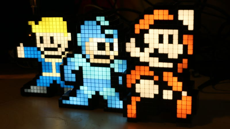 Illustration for article titled Pixel Gaming Lamps Sure Brighten Up The Place