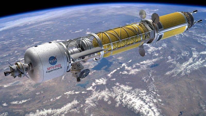 Illustration for article titled How NASA's Nuclear Rockets Will Take Us Way Beyond Mars