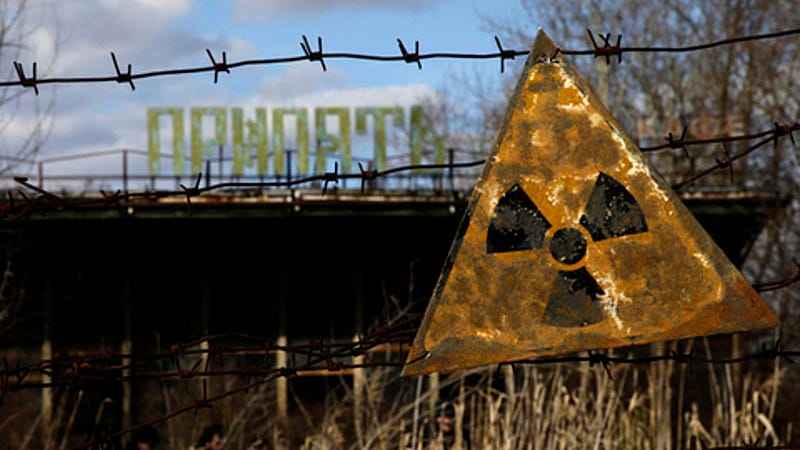 Image: Radiation warning sign in Pripyat / Diana Markosian