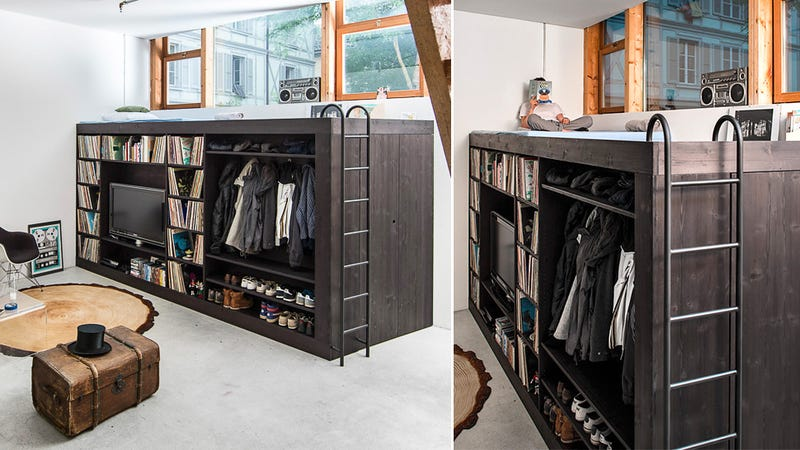 ... Till Könneker Recently Came Up With A Fantastic Way To Maximize The  Space In His Studio Apartment, Which Lacked Room For Storage. He Created A Loft  Bed ...