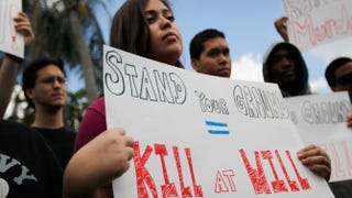 A rally protesting Stand your ground laws in Miami in 2012Joe Raedle/Getty Images