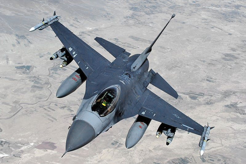 Illustration for article titled F-16 Takes Battle Damage From Small Arms Fire Over Afghanistan
