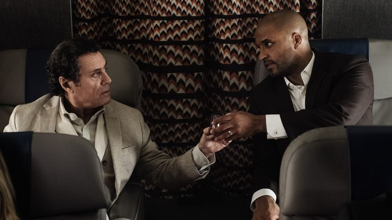 Ian McShane and Ricky Whittle star in American Gods (Photo: Starz Network)
