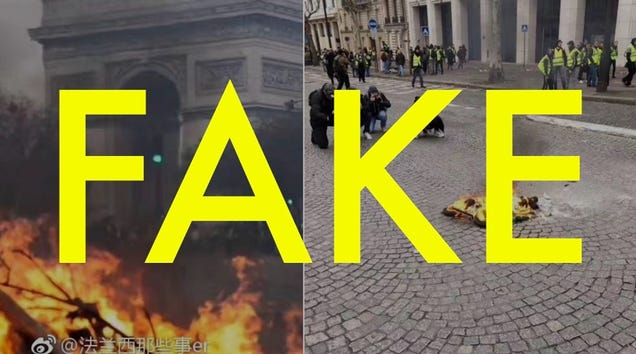 That Photo  Debunking  the Paris Protest Fires is Actually Bullshit