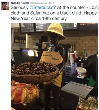 Image of Thandie Newton tweet calling out StarbucksTwitter
