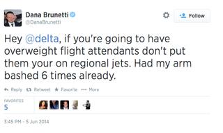 Illustration for article titled Social Network Producer Doesn't Like Fat Flight Attendants on Plane