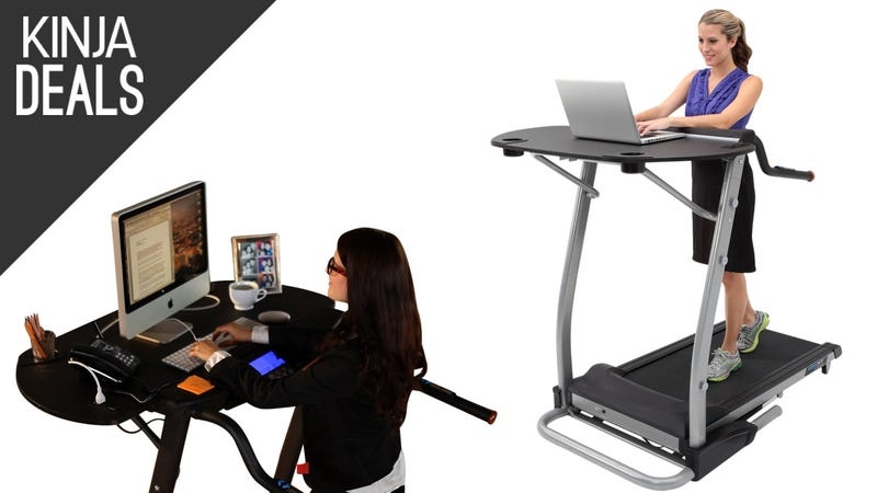 Illustration for article titled Get a Workout While You Work With This Discounted Treadmill Desk