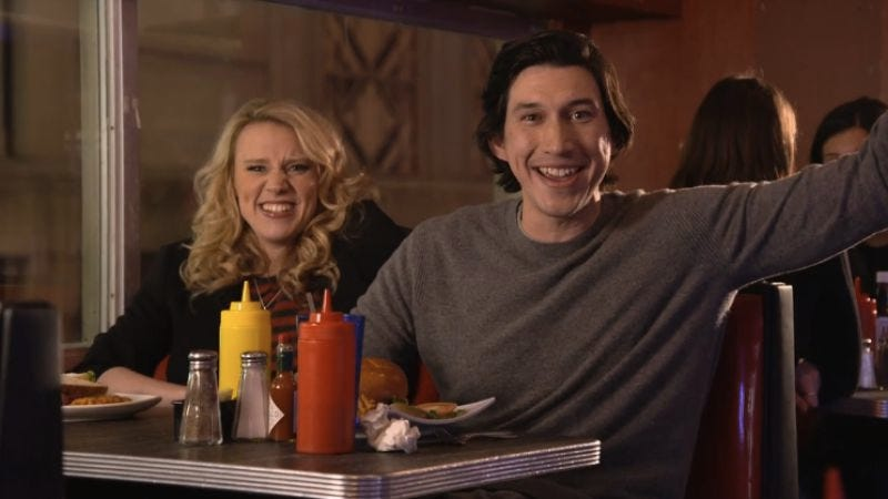 Kate McKinnon, Adam Driver (who actually seems quite nice) (NBC)