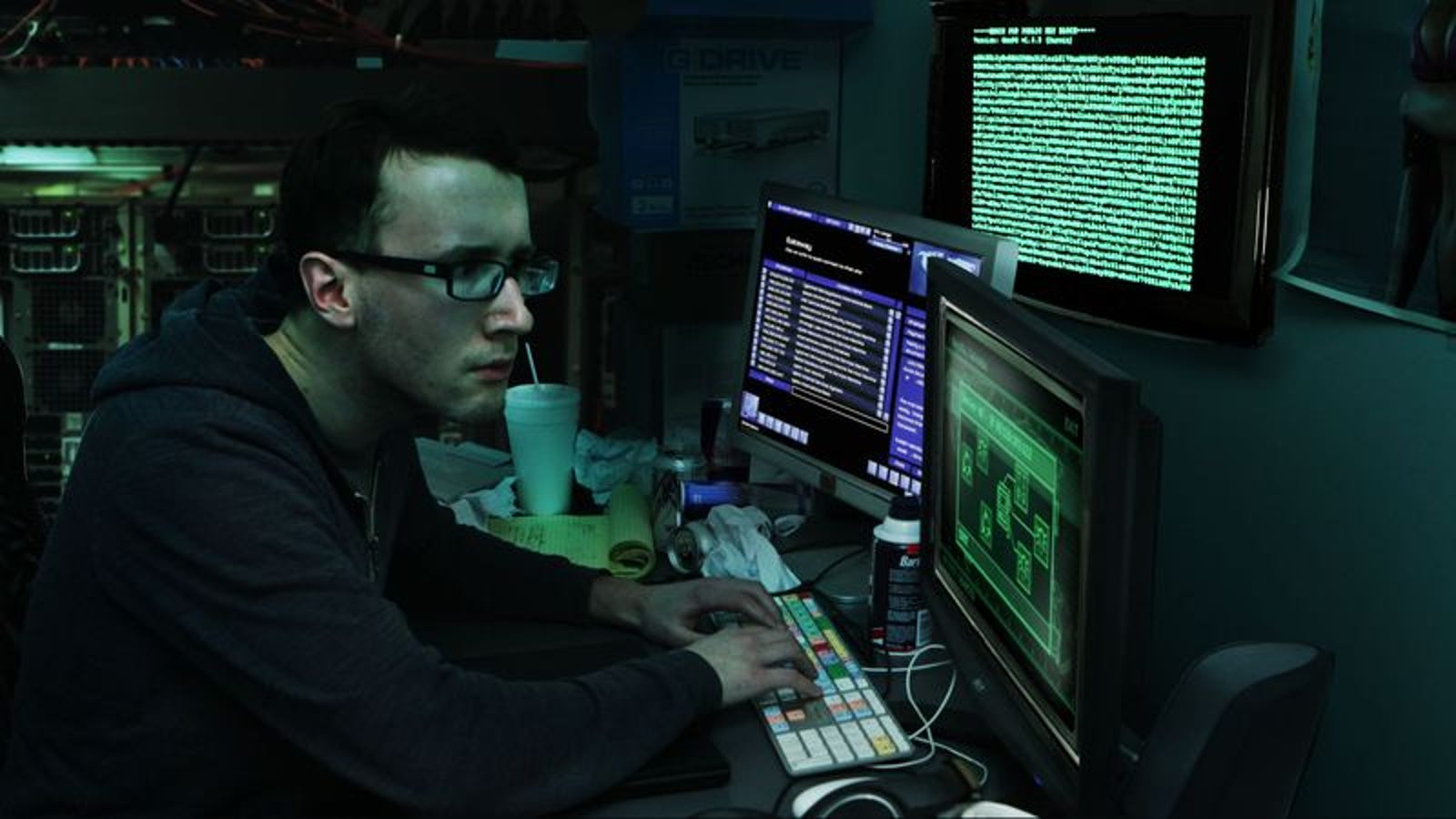 Fast-Talking Computer Hacker Just Has To Break Through