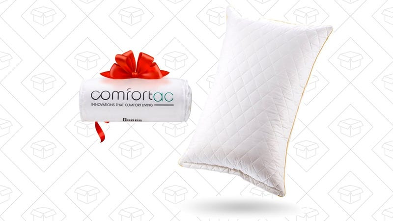 Shredded Memory Foam Pillow by Comfortac, Queen | $31 | AmazonShredded Memory Foam Pillow by Comfortac, King | $33 | Amazon