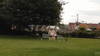 Mad genius creates a crazy super drone flying machine using 54 propellers