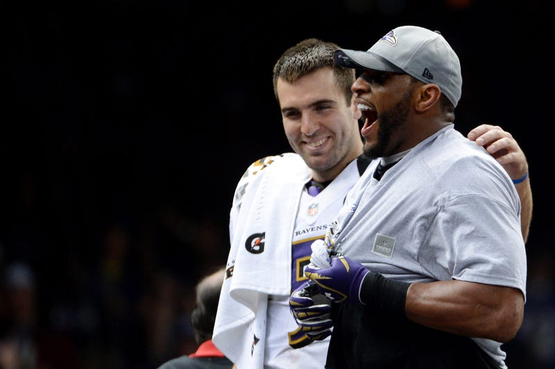 Illustration for article titled Joe Flacco Couldn't Understand A Damn Thing Ray Lewis Said
