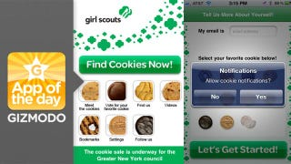 Illustration for article titled Cookie Finder for iPhone: GET YOUR GIRL SCOUT COOKIES